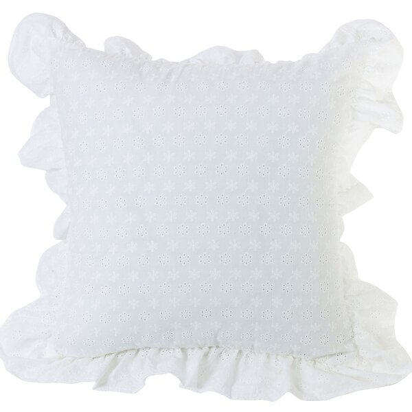 Barrier Ruffled Flange Eyelet Throw Pillow by Red Barrel Studio