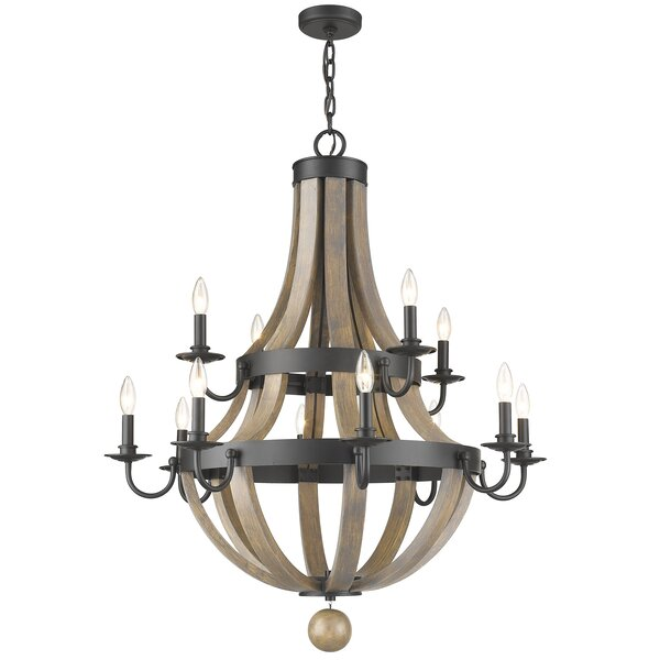 Pittman 12-Light Candle Style Chandelier by Gracie Oaks