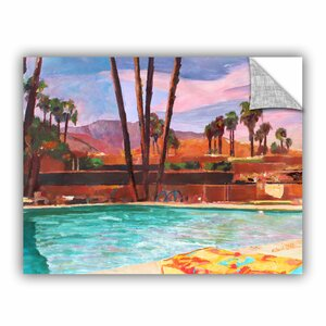 ArtApeelz The Palm Springs Pool by Marcus/Martina Bleichner Painting Print on Canvas Set by ArtWall