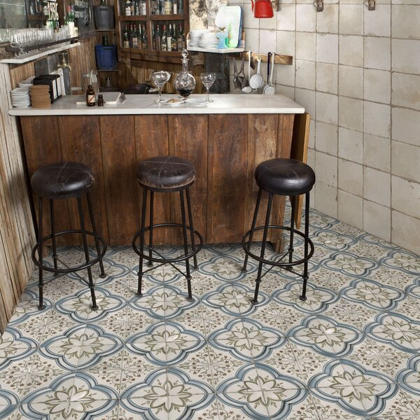 Alcaza 17.63 x 17.63 Ceramic Field Tile in Blue/Green by EliteTile