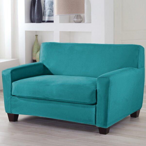 Serta® Stretch Fit Box Cushion Loveseat Slipcover by Serta