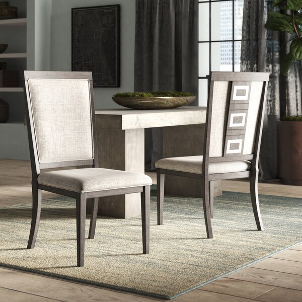 Barr Upholstered Dining Chair (Set of 2) by World Menagerie