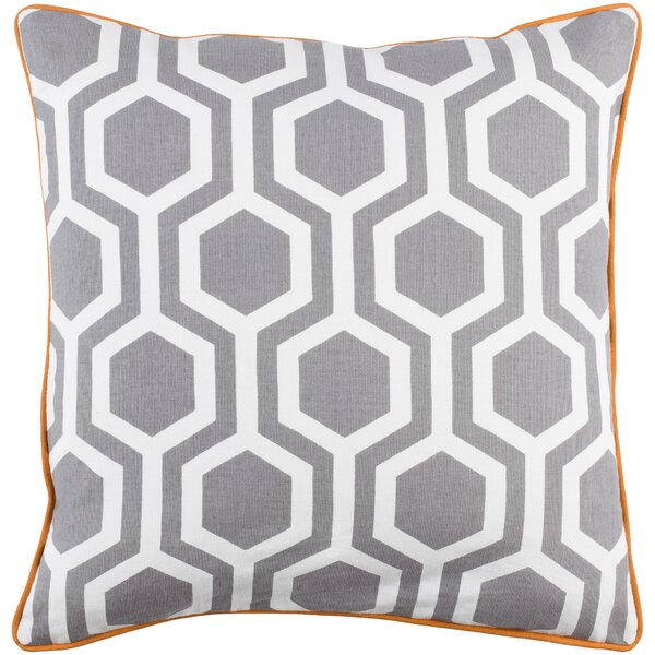 Antonia Geometric Cotton Throw Pillow by Langley Street