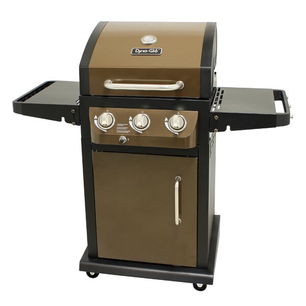 LP 3-Burner Propane Gas Grill with Cabinet by Dyna-Glo