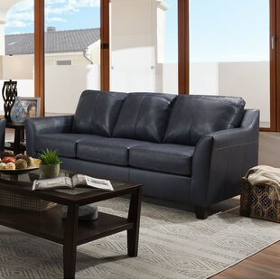 Basham Leather Sofa Bed
