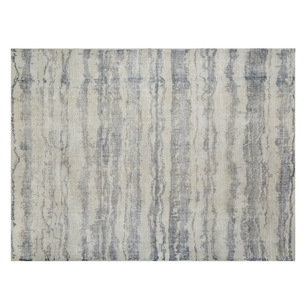 Tolland Hand-Knotted Gray Area Rug