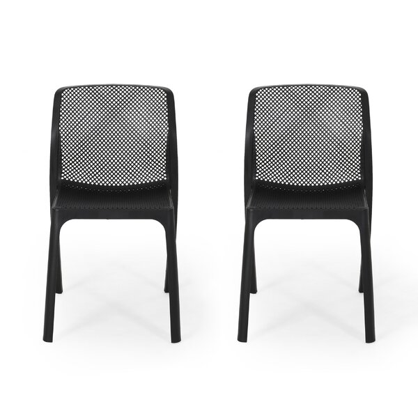 Belz Outdoor Stacking Patio Dining Chair (Set Of 2) By Symple Stuff by Symple Stuff Best #1