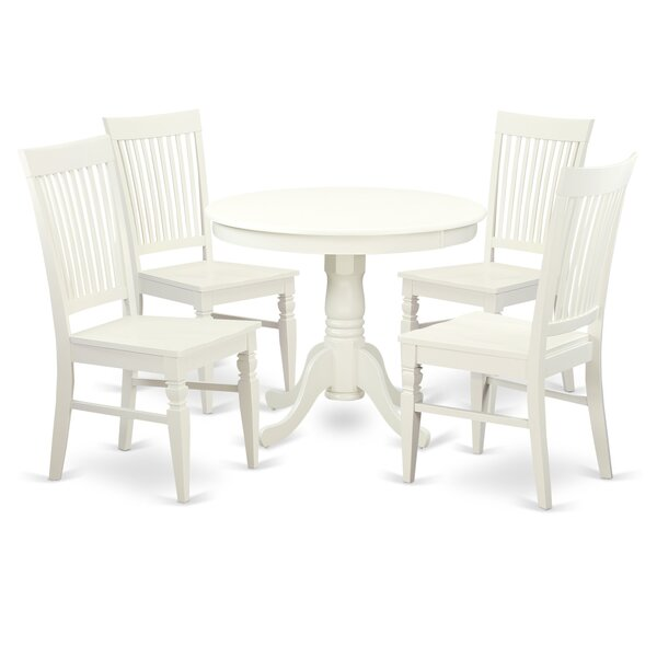 Stretford 5 Piece Dining Set by August Grove