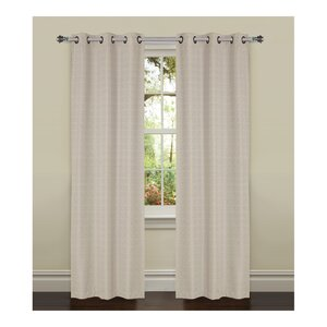 York Textured Solid Room Darkening Thermal Grommet Curtain Panels (Set of 2)