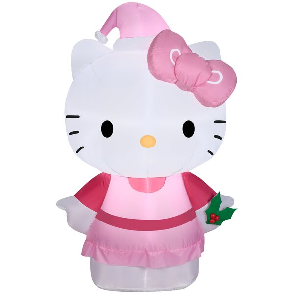 Airblown Hello Kitty Outfit and Hat Small Hello Kitty Inflatable by Gemmy Industries