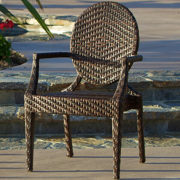 Marylyn PE Wicker Outdoor Arm Chair by Bay Isle Home