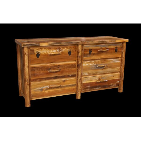 Jorgensen 6 Drawer Double Dresser with Round Legs by Loon Peak