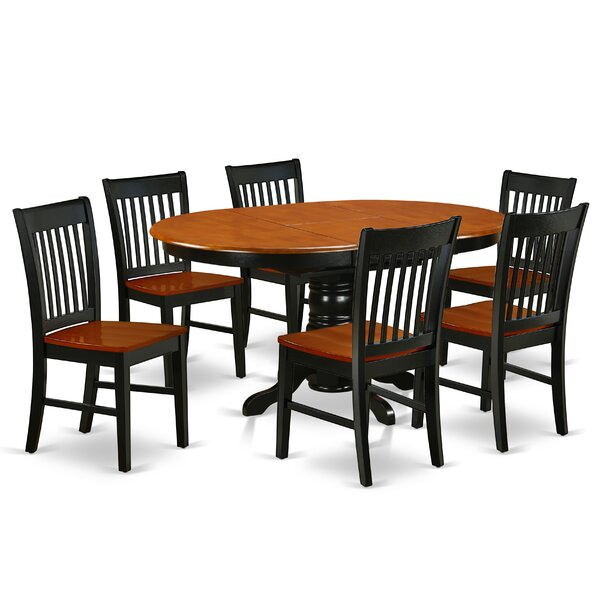 Wrigley 7 Piece Extendable Solid Wood Dining Set by August Grove August Grove