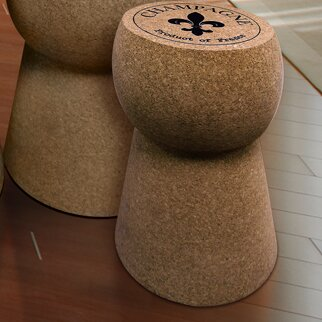 Champagne Cork Stool by Vinotemp