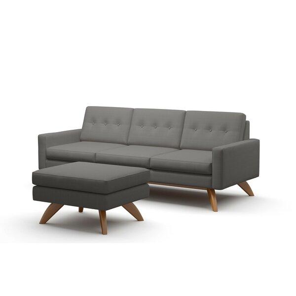Luna Loft Sofa and Ottoman by TrueModern