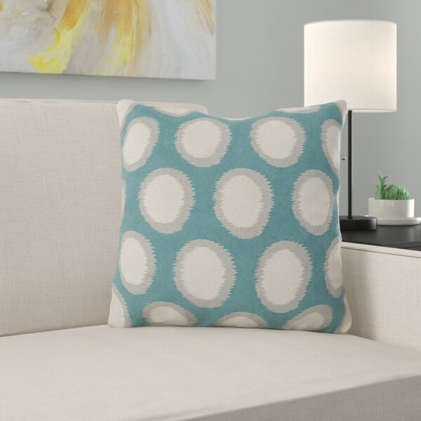Odis Pretty Polka Dot Linen Throw Pillow by Zipcode Design