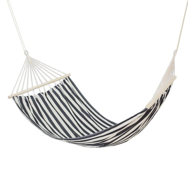 Bernon Zebra Stripes Cotton Tree Hammock by Highland Dunes