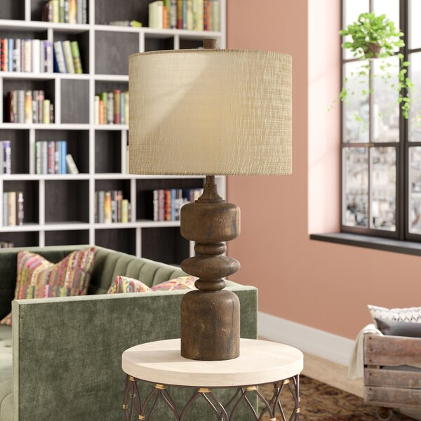 Amherst Wood 33.5 Table Lamp by World Menagerie