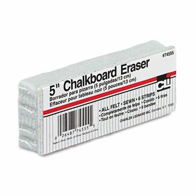 5-Inch Chalkboard Eraser, Wool Felt by Charles Leonard Co.
