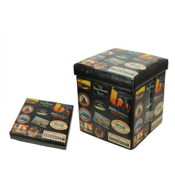 Travel Stickers Storage Ottoman by Northlight Seasonal
