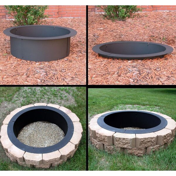 DIY Steel Wood Burning Fire Ring by Deeco