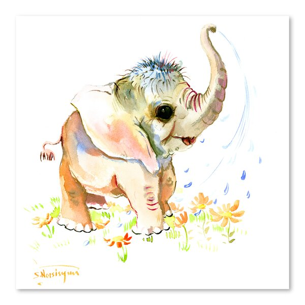 Baby Elephant by Suren Nersisyan Painting by Ameri