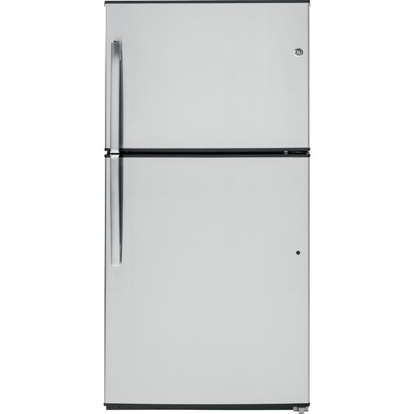 21.2 cu. ft. Energy Star® Stainless Top-Freezer Refrigerator by GE Appliances