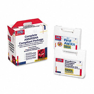 First Aid Kit for 50 People, 229 Pieces, Ansi/Osha Compliant, Plastic Case by First Aid Only™