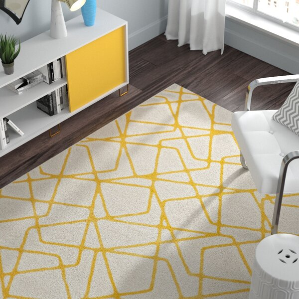 Nanette Light Gray / Yellow Area Rug by Zipcode Design