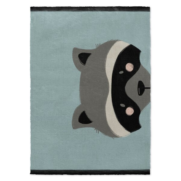 Jacquelyn Black/Gray/Green Area Rug by Harriet Bee