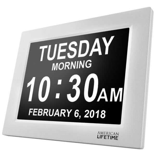 Extra Large Digital Wall Clock By American Lifetime.