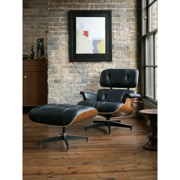Donavan Swivel Lounge Chair and Ottoman by Corrigan Studio