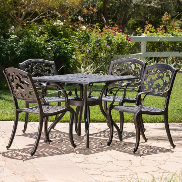 Agawam 5 Piece Dining Set by Fleur De Lis Living