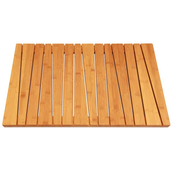 Deluxe Rectangle Rayon from Bamboo Non-Slip Geometric Bath Rug