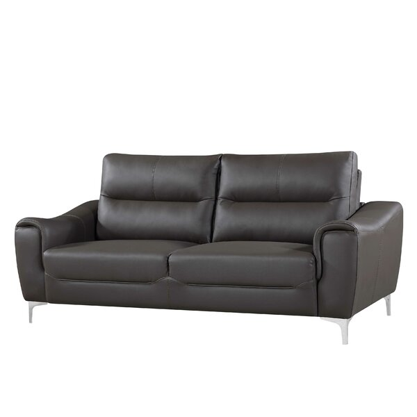 Calixta Leather Sofa By Latitude Run