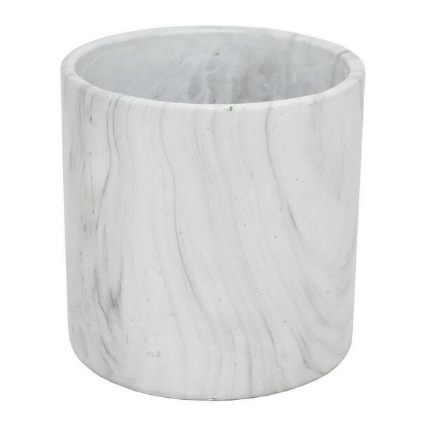 Marble Look Flower Pot Planter by Three Hands Co.