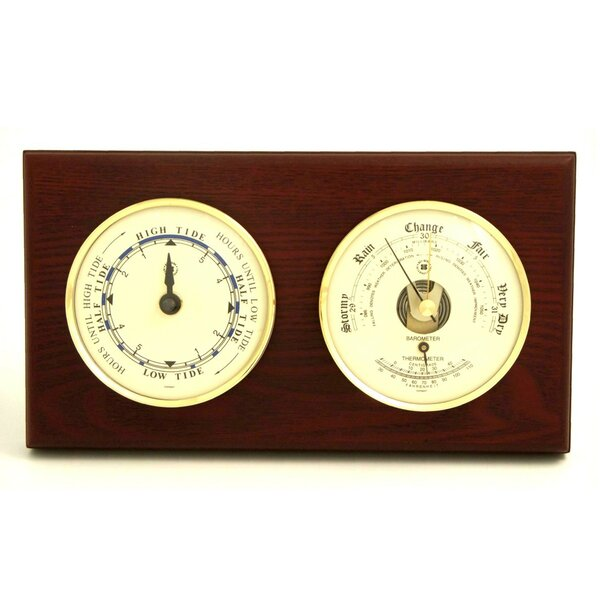 Tide Wall Clock with Barometer and Thermometer by Bey-Berk