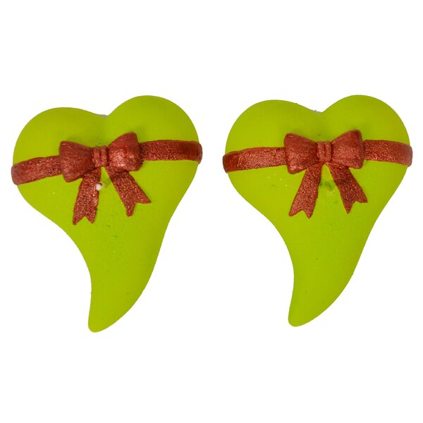 Ribbon Heart Novelty Candle (Set of 2) by Fantastic Craft