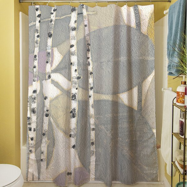 Birch Leaf II Shower Curtain by Manual Woodworkers & Weavers