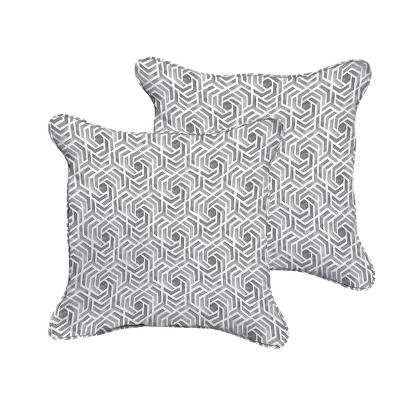 Brescia Indoor/Outdoor Throw Pillow (Set of 2) by Wrought Studio