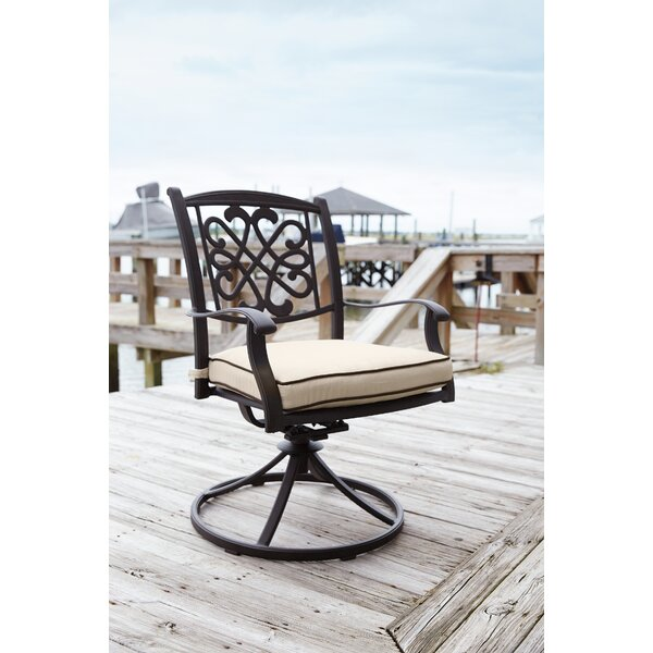 Hanson Swivel Rocker Patio Dining Chair with Cushi