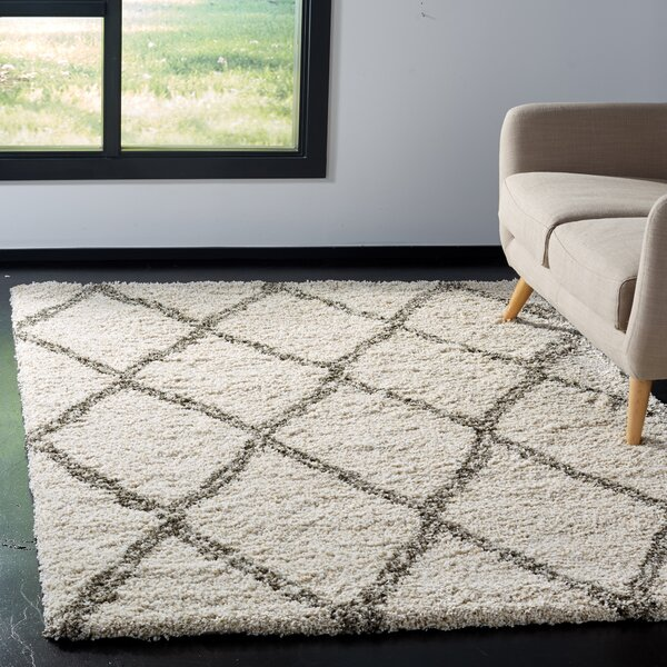 Elizabeth Street Ivory/Gray Area Rug by Wrought Studio