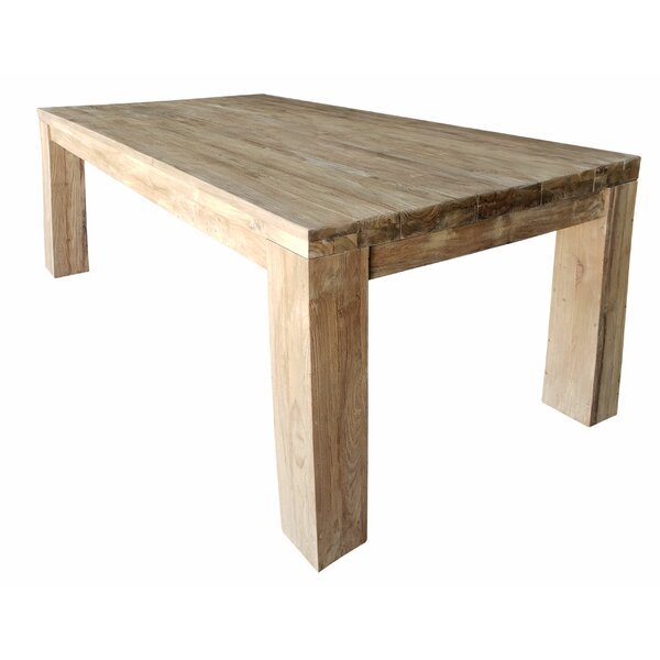 Trahan Marbella Recycled Solid Wood Dining Table by Loon Peak