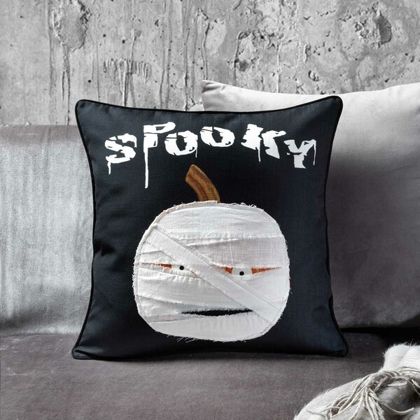 Pumpkin Mummy Throw Pillow by 14 Karat Home Inc.