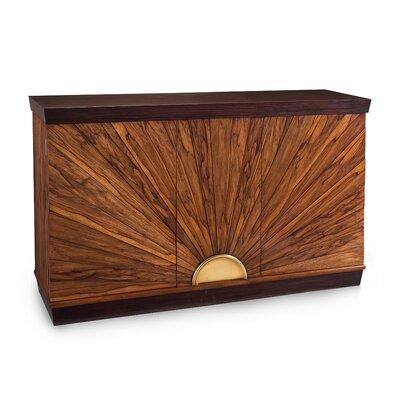 """John-Richard 66"""" Wide Acacia Wood Sideboard"""