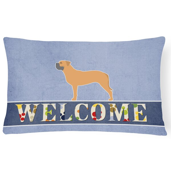 Orchard Lane Bullmastiff Welcome Lumbar Pillow by Red Barrel Studio