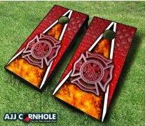 10 Piece Fireman Cornhole Set by AJJ Cornhole