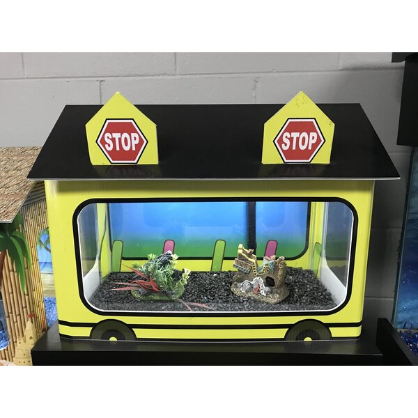 10 Gallon School Bus Aquarium Tank Cover by RJ Enterprises