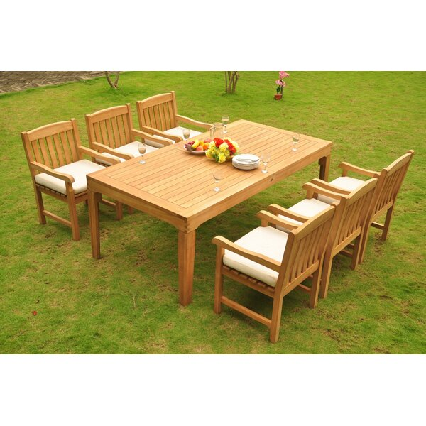 Erie Luxurious 7 Piece Teak Dining Set by Rosecliff Heights