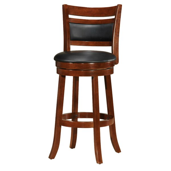Devin Wooden 29 Swivel Bar Stool by Red Barrel Studio